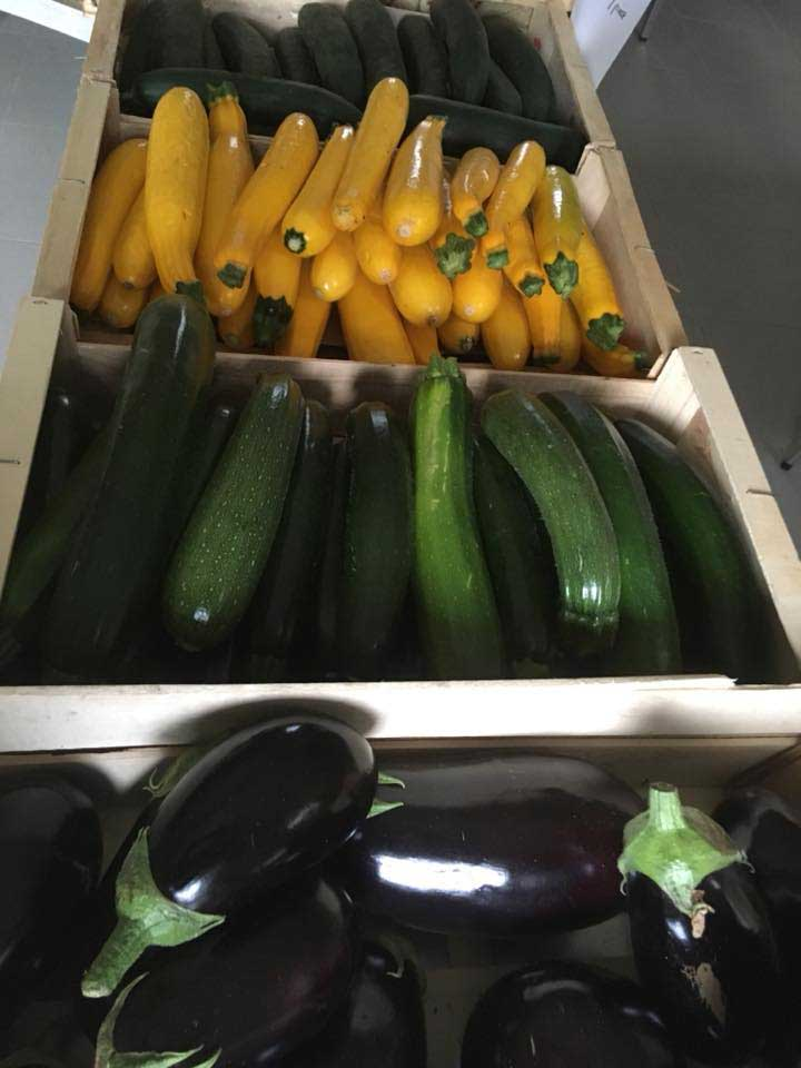 Courgettes, aubergines
