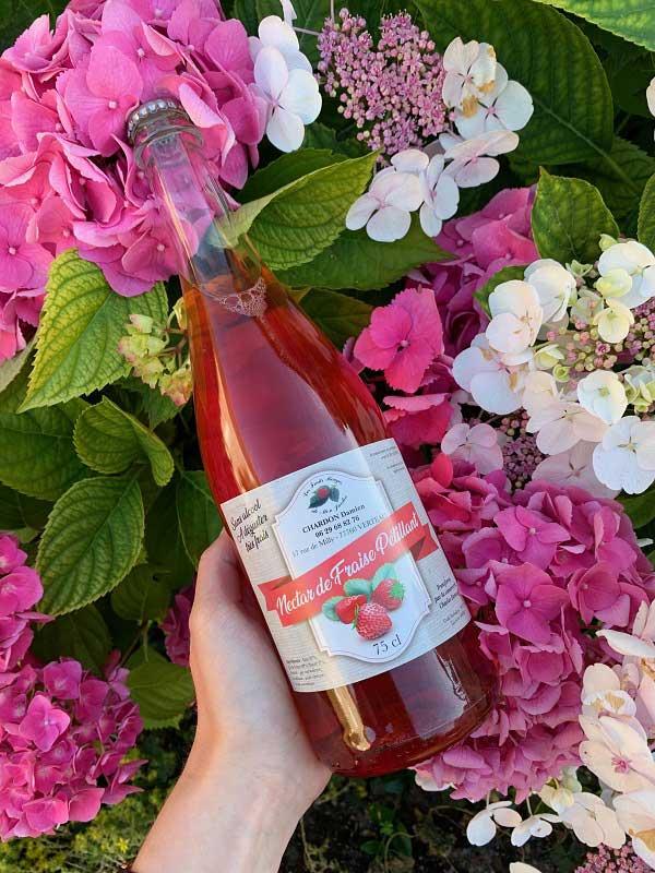 Nectar de fraises Pétillant 75 cl (sans alcool)